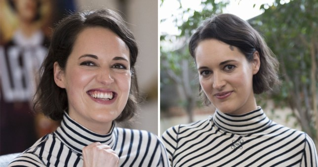 Phoebe Waller-Bridge pictured at Amazon Prime Fleabag photocall in Los Angeles.