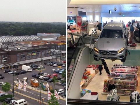 Nine injured after elderly driver smashes through shopping centre in Hamburg