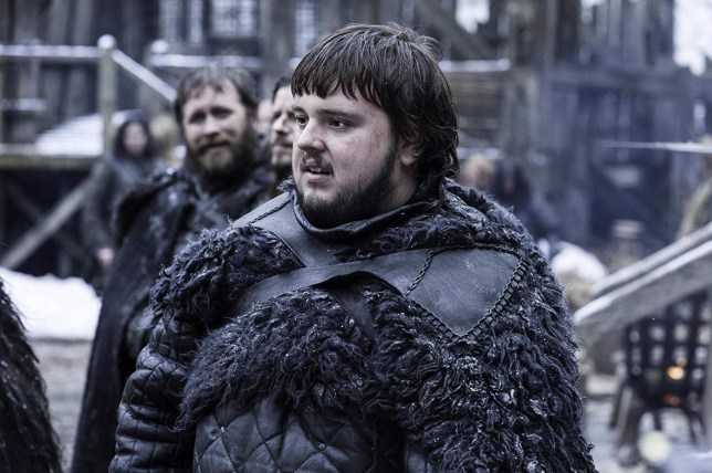 Samwell Tarly in Game of Thrones season 8