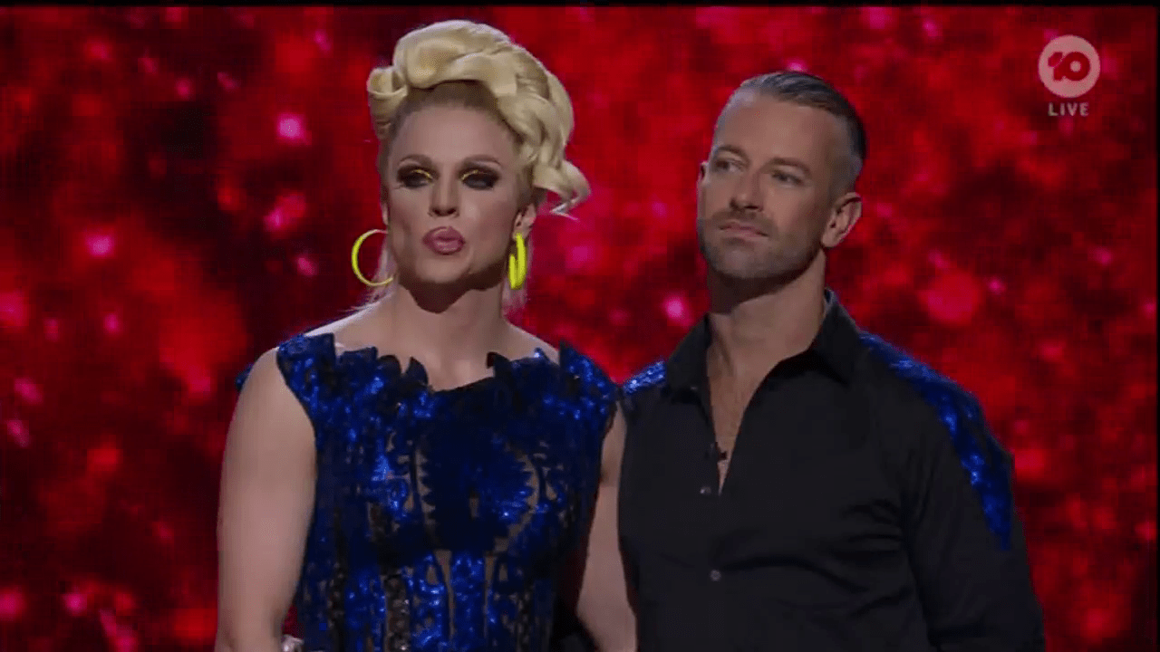 Dancing With The Stars' Courtney Act snubbed of win by Samuel Johnson