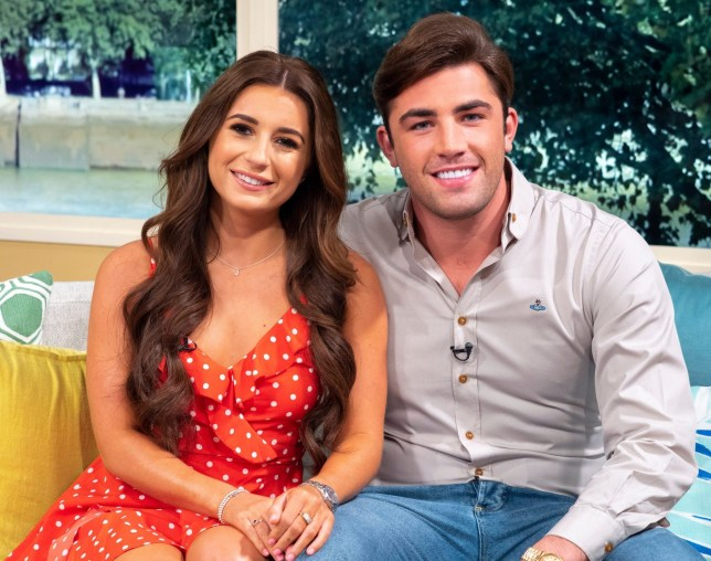 Mandatory Credit: Photo by Ken McKay/ITV/REX/Shutterstock (9848271x) Dani Dyer and Jack Fincham 'This Morning' TV show, London, UK - 03 Sep 2018