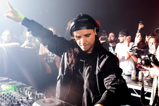 NEW YORK, NY - AUGUST 05: Skrillex performs onstage during 'Webster Hall The End Of An Era' at Webster Hall on August 5, 2017 in New York City. (Photo by Santiago Felipe/Getty Images)
