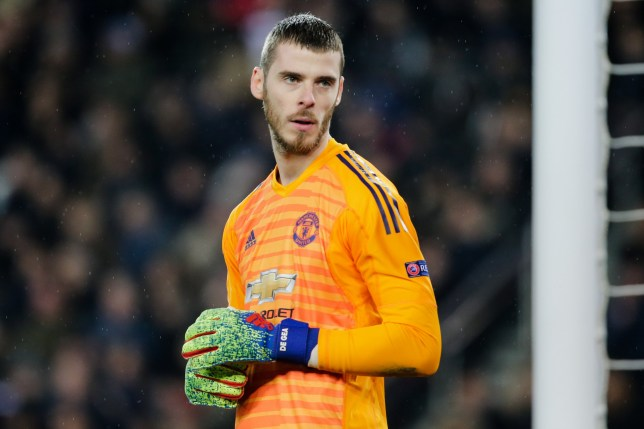 PARIS, FRANCE - MARCH 6: David De Gea of Manchester United during the UEFA Champions League match between Paris Saint Germain v Manchester United at the Parc des Princes on March 6, 2019 in Paris France (Photo by Erwin Spek/Soccrates/Getty Images)