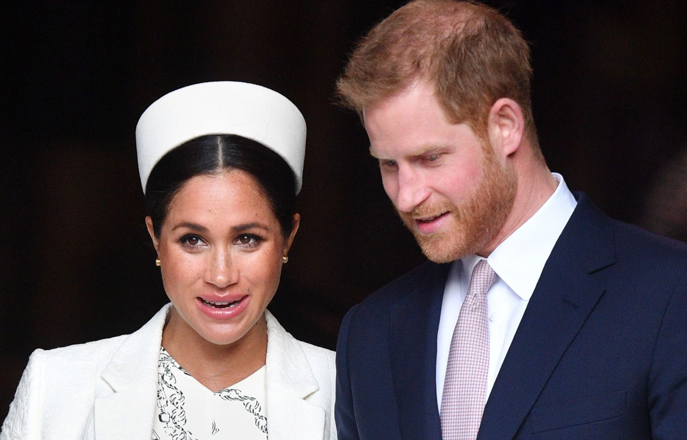 The Duke and Duchess of Sussex at Commonwealth Day memorial service in 2019
