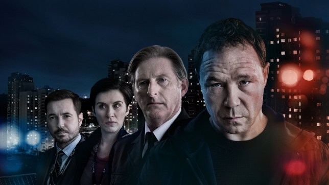 WARNING: Embargoed for publication until 22:00:01 on 18/03/2019 - Programme Name: Line of Duty - Series 5 - TX: n/a - Episode: Line of Duty S5 - Portraites (No. n/a) - Picture Shows: ***EMBARGOED TILL 10pm MONDAY 18th 2019*** Detective Sergeant Steve Arnott (MARTIN COMPSTON), Detective Sergeant Kate Fleming (VICKY McCLURE) , Superintendent Ted Hastings (ADRIAN DUNBAR), Corbett (STEPHEN GRAHAM) - (C) World Productions - Photographer: Aidan Monaghan