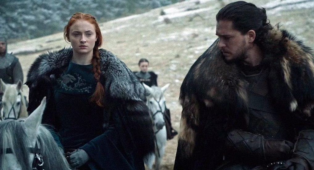 Sophie Turner and Kit Harington Game of Thrones internet image