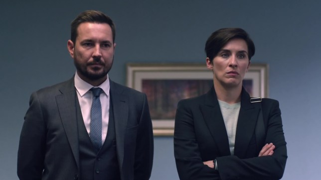 Line of Duty Series 5 - Episode 1 Sunday 31th March 2019 New series. An attack is made on a police transport carrying seized drugs, leaving three officers dead. Suspicion immediately falls on the head of a criminal syndicate, who is suspected of having police officers on his payroll providing him with information. AC-12 are assigned to investigate and root out the corrupt cops - but realise they are up against their most destructive adversary yet. The return of Jed Mercurio's police thriller, starring Adrian Dunbar, Vicky McClure, Martin Compston and Stephen Graham. Credit: BBC