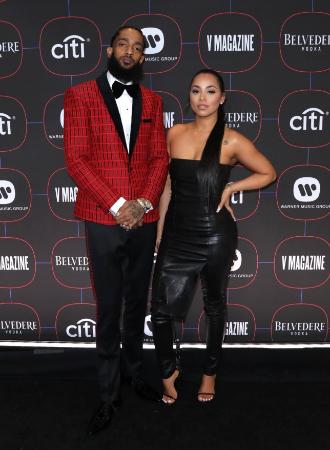 Mandatory Credit: Photo by AFF-USA/REX/Shutterstock (10099278bi) Nipsey Hussle and Lauren London Warner Music's Pre-Grammys Party, Arrivals, The NoMad Hotel, Los Angeles, USA - 07 Feb 2019