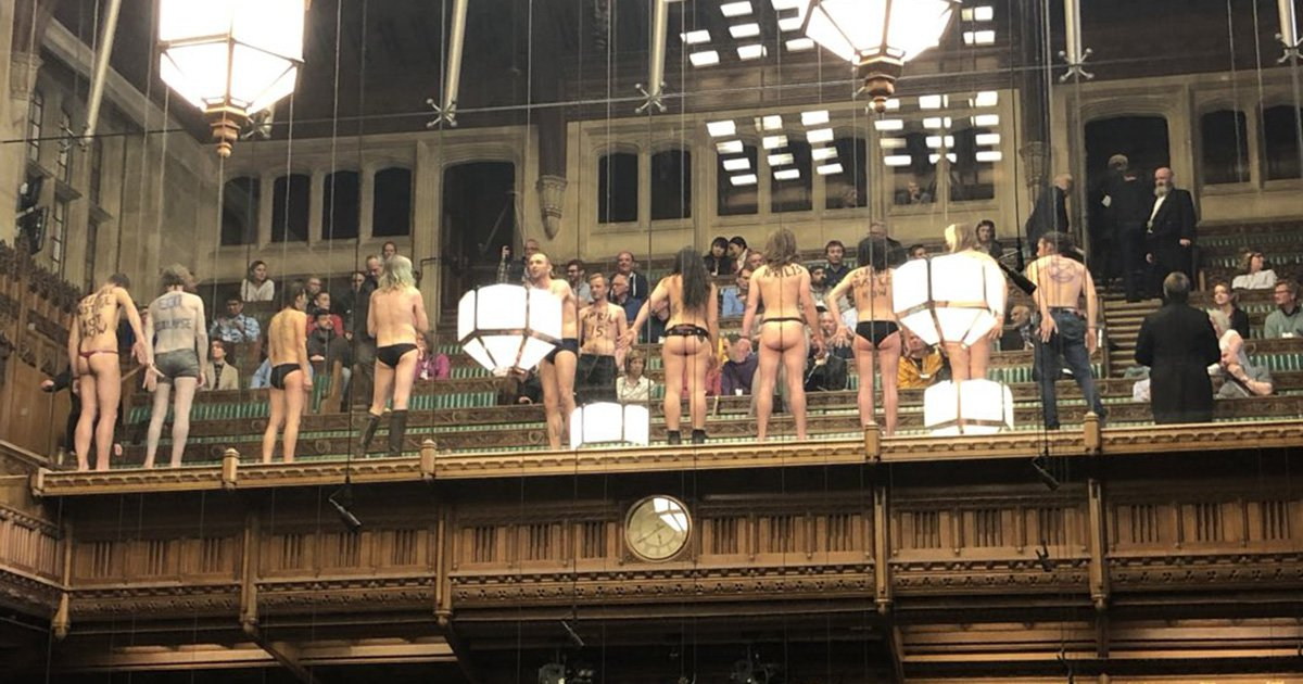 I stood naked in parliament to fight for the future of our planet