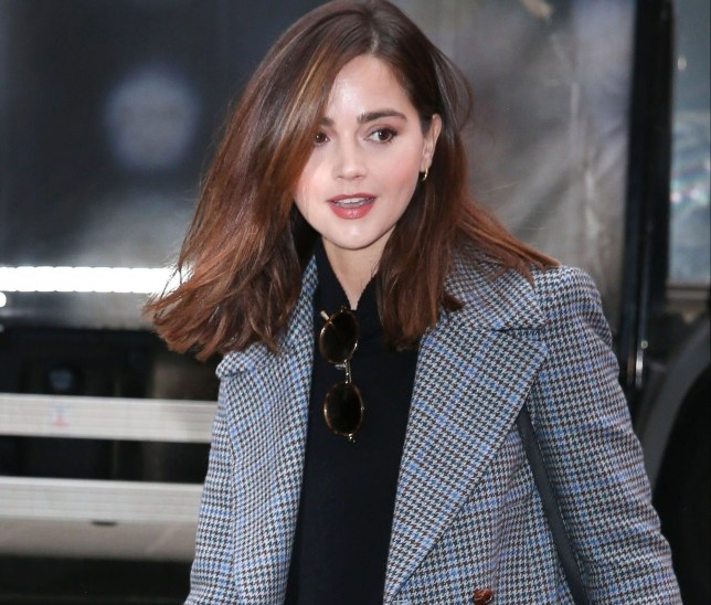 BGUK_1535140 - London, UNITED KINGDOM - The British Actress Jenna Coleman arrives at the Zoe Ball BBC Radio 2 Breakfast Show in London. Pictured: Jenna Coleman BACKGRID UK 2 APRIL 2019 UK: +44 208 344 2007 / uksales@backgrid.com USA: +1 310 798 9111 / usasales@backgrid.com *UK Clients - Pictures Containing Children Please Pixelate Face Prior To Publication*