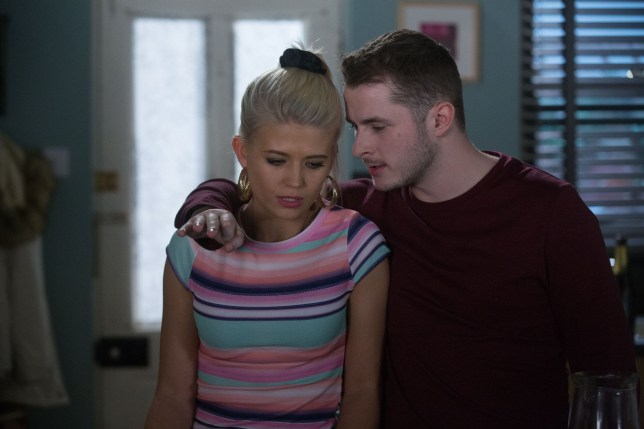 Ben Mitchell and Lola Pearce are whispering about their big secret as he reveals she's engaged
