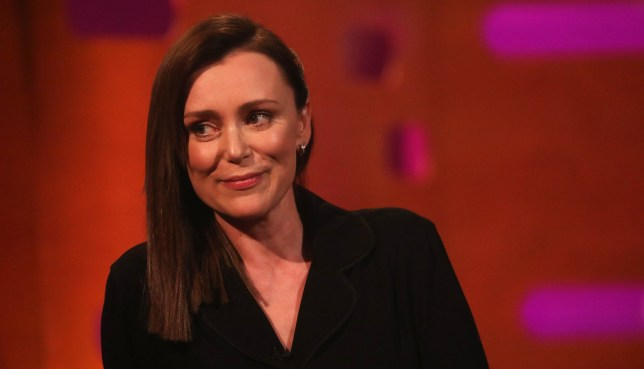 Keeley Hawes during the filming for the Graham Norton Show at BBC Studioworks 6 Television Centre, Wood Lane, London, to be aired on BBC One on Friday evening. PRESS ASSOCIATION Photo. Picture date: Thursday April 4, 2019. Photo credit should read: PA Images on behalf of So TV