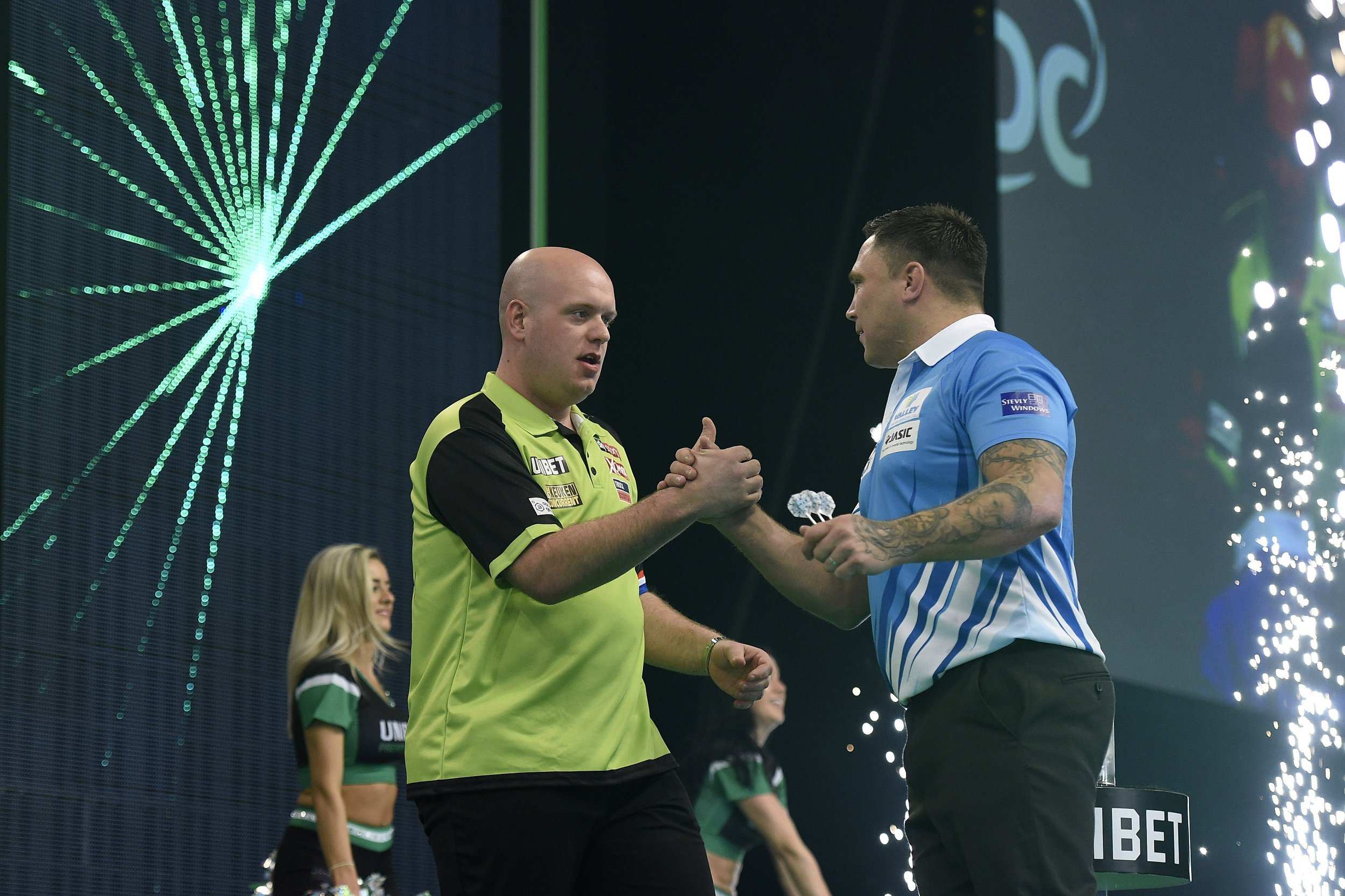 Gerwyn Price says 'I will beat you one day' as Michael van Gerwen snatches Premier League draw
