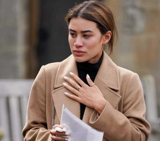 Depatures At The Funeral Of Mike Thalassitis Pictured: Montana Brown Ref: SPL5077448 050419 NON-EXCLUSIVE Picture by: SplashNews.com Splash News and Pictures Los Angeles: 310-821-2666 New York: 212-619-2666 London: 0207 644 7656 Milan: 02 4399 8577 photodesk@splashnews.com World Rights,