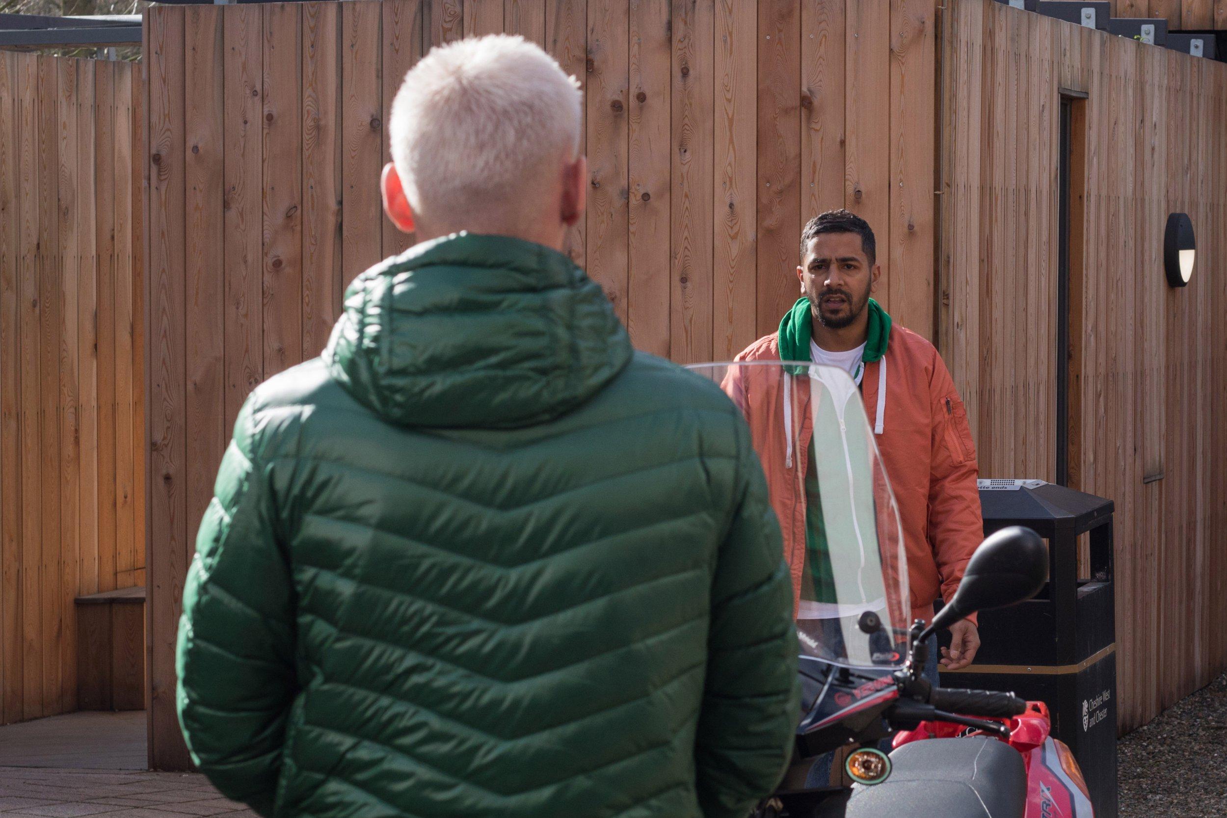 Ste Hay (Kieran Richardson) involved in racist attack