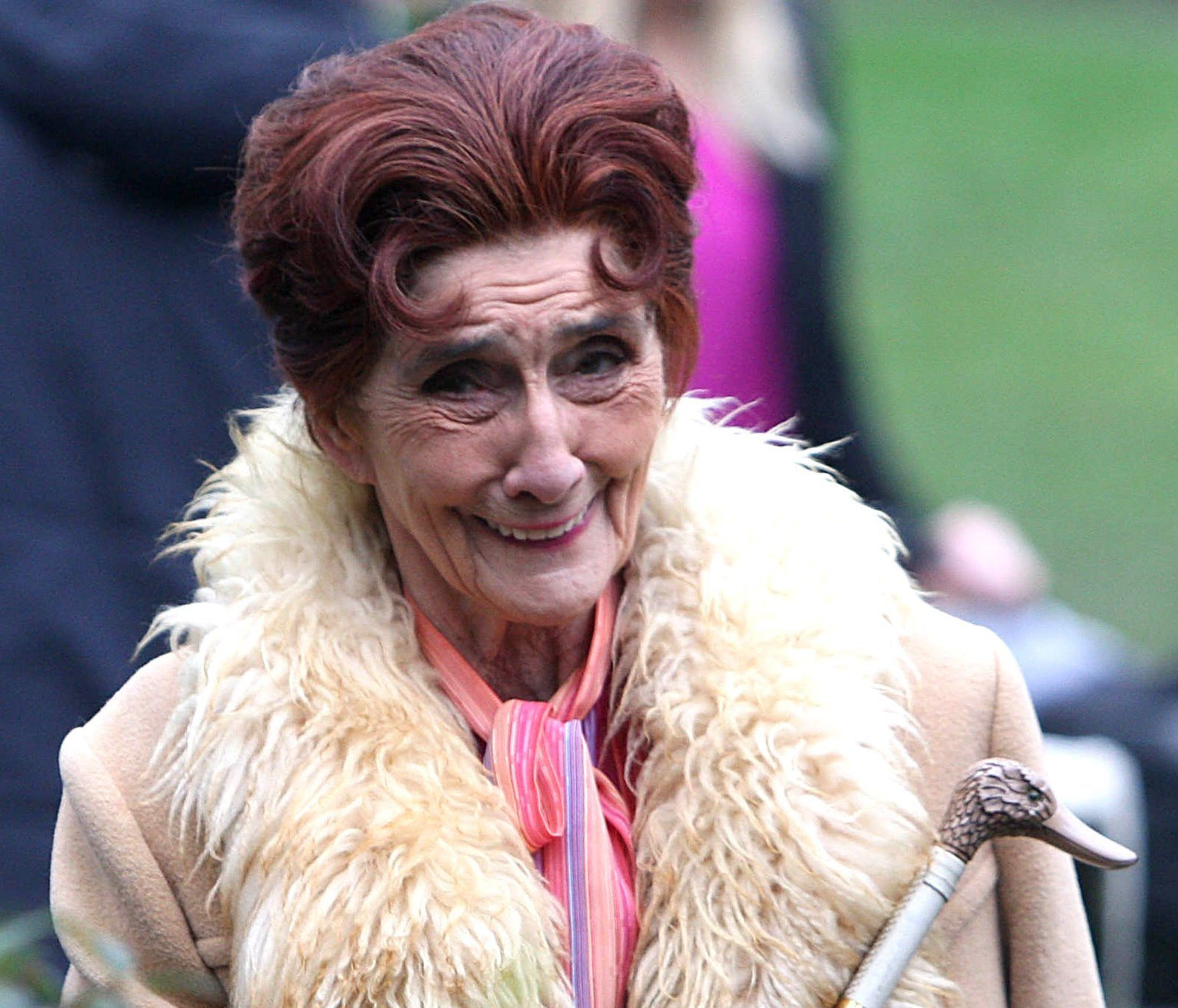 Mandatory Credit: Photo by Beretta/Sims/REX/Shutterstock (1288568r) Dot Cotton played by June Brown Filming the 'EastEnders' wedding of Tanya Branning and Greg Jessop, London, Britain - 22 Feb 2011