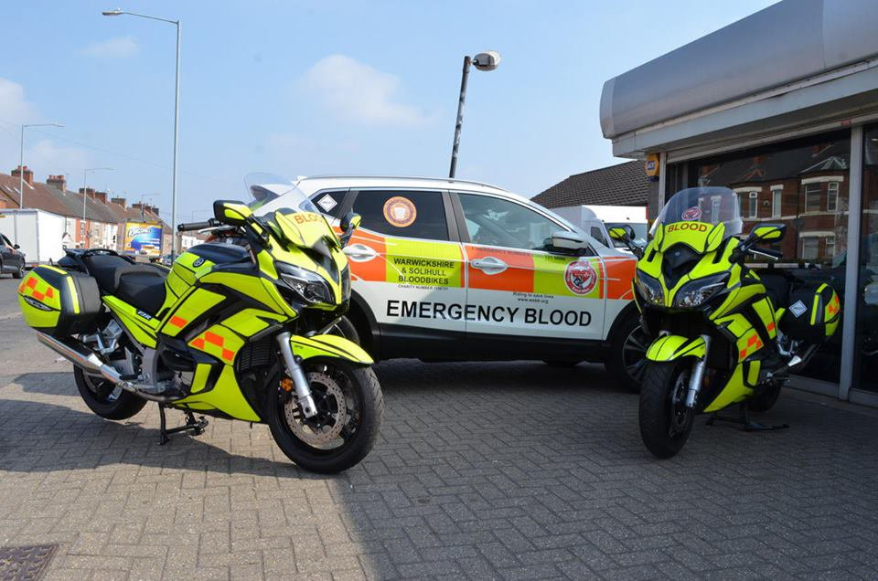 Blood bikers A charity that provided a free out-of-hours blood supply service to the NHS in Coventry and Warwickshire, has been replaced with a new ??14 million contract with a private firm. Provider: Warwickshire and Solihull Blood Bikes Source: https://www.facebook.com/warwickshireandsolihullbloodbikes/photos/p.2452093654806858/2452093654806858/?type=1&theater