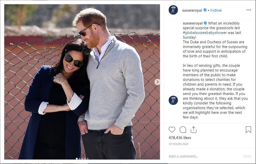 Harry and Meghan share romantic snap on new Instagram account Duke and Duchess of Sussex Provider: Instagram/sussexroyal Source: https://www.instagram.com/p/Bv4Ou8nBFDE/