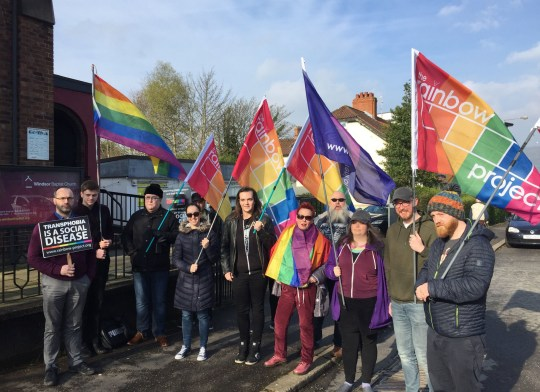 LGBT Group Protest Outside Christian Event For People With