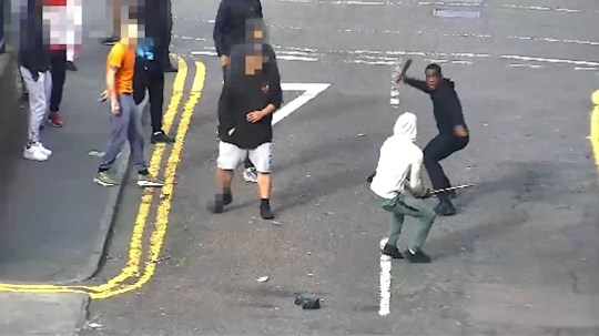 Men armed with machetes in Newcastle city centre