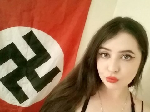 'Miss Hitler' terror suspect, 22, 'posed in front of Nazi swastika flag'