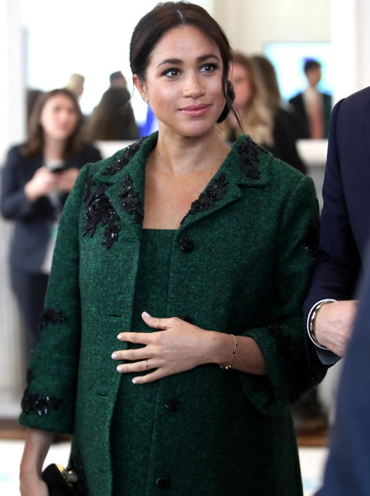 LONDON, ENGLAND - MARCH 11: Meghan, Duchess of Sussex attends a Commonwealth Day Youth Event at Canada House with Prince Harry, Duke of Sussex, where they speak with young Canadians from a wide range of sectors including fashion, the arts, business and academia on March 11, 2019 in London, England. The event will showcase and celebrate the diverse community of young Canadians living in London and around the UK. (Photo by Chris Jackson - WPA Pool/Getty Images)