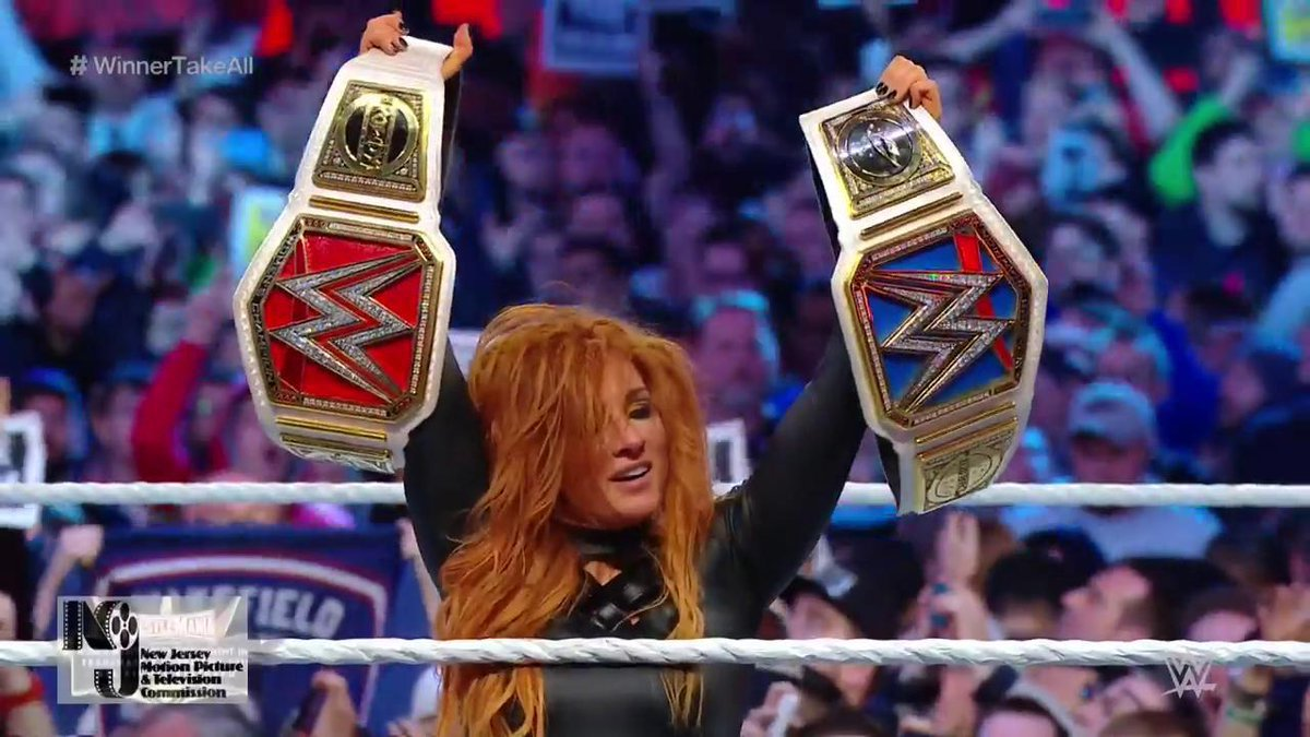 The Man makes history as Becky Lynch wins WrestleMania's first ever all-female main event