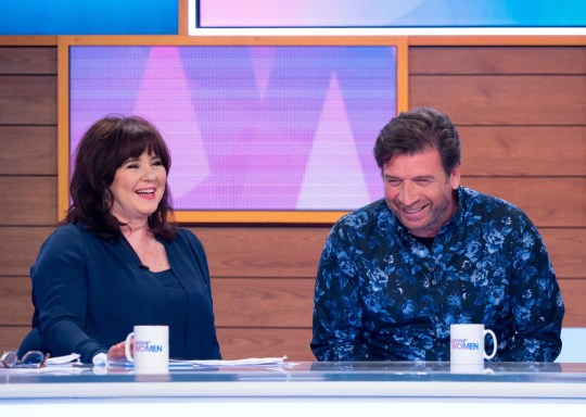 Editorial use only Mandatory Credit: Photo by Ken McKay/ITV/REX (10190352as) Coleen Nolan and Nick Knowles 'Loose Women' TV show, London, UK - 08 Apr 2019 CELEB CHAT: NICK KNOWLES Best known for hosting DIY SOS, Nick Knowles is here to tell us all about his new show 'Home Is Where The Art Is' which sees three artists each episode competing to win a commission off a buyer they?ve never met. The ?I?m A Celebrity? campmate will also talk about how he hasn?t given up on love, how he?s now putting family first, and he?ll be making an exclusive announcement about his music career today live on the show.