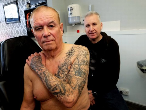 A granddad has fallen in love with getting tattoos in his 70s