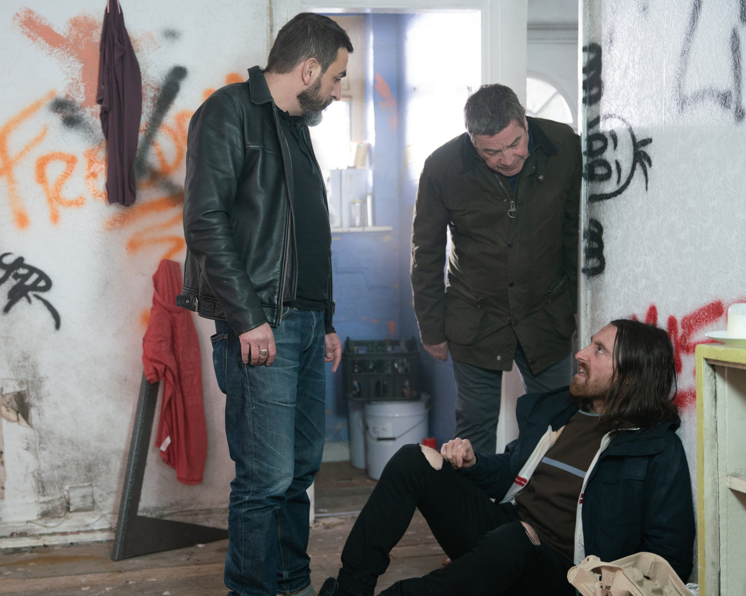 Peter goes to a squat to find Carla