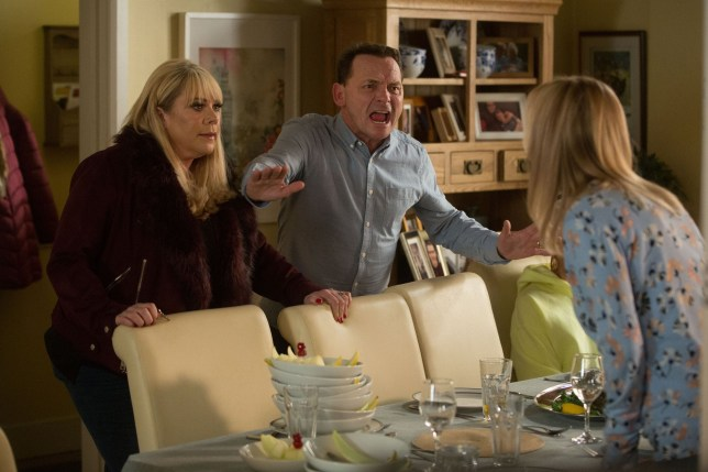 Sharon (Letitia Dean) makes a shock discovery