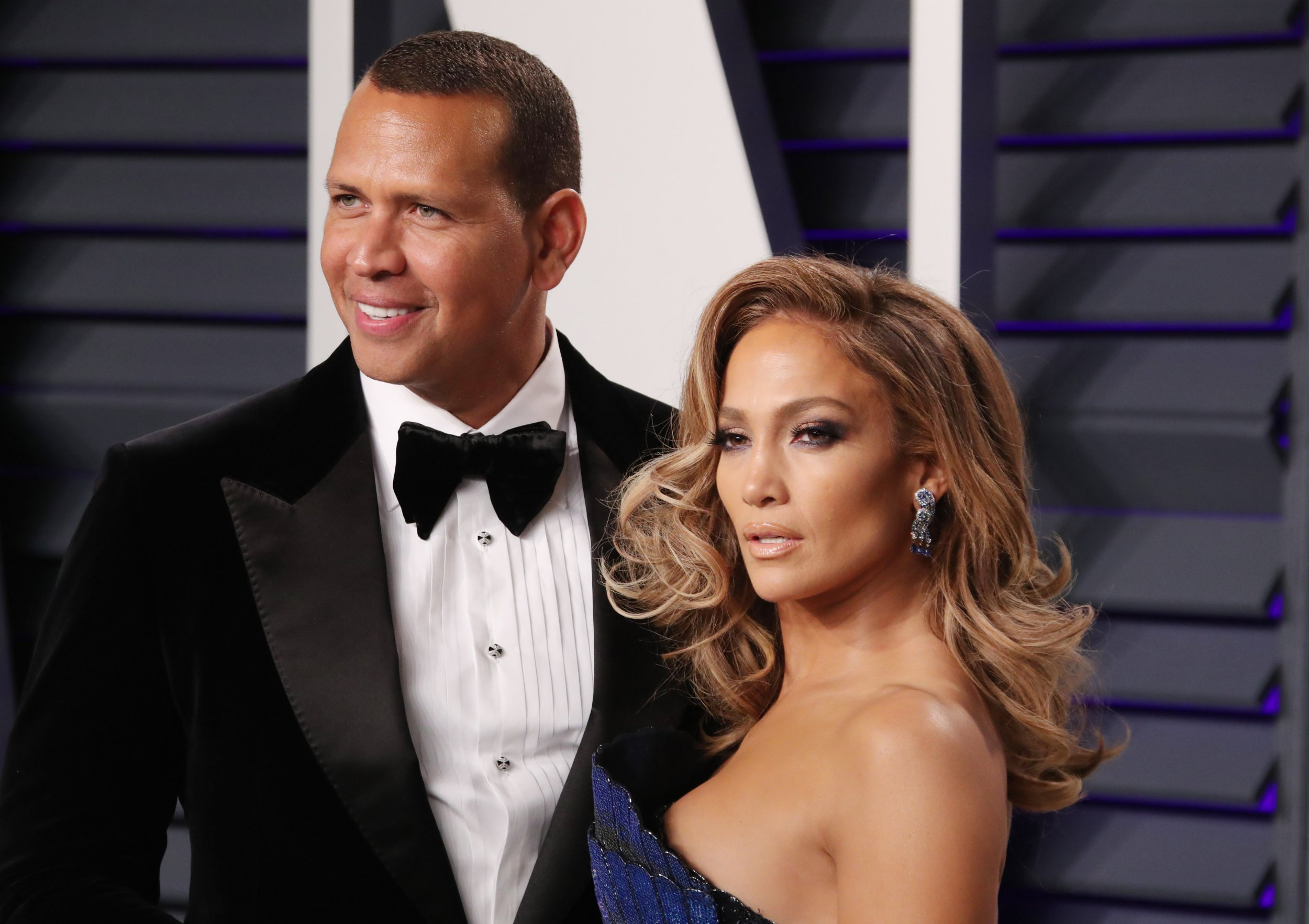 Mandatory Credit: Photo by Matt Baron/REX/Shutterstock (10119055xy) Alex Rodriguez and Jennifer Lopez Vanity Fair Oscar Party, Arrivals, Los Angeles, USA - 24 Feb 2019