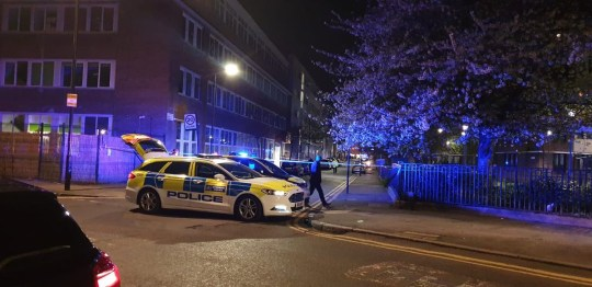 Hackney Stabbing London?s Air Ambulance also attended. Police say two men in their mid-20s have been arrested and remain in custody. A crime scene remains.
