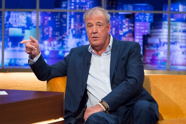 Mandatory Credit: Brian J Ritchie/Hotsauce Editorial Use Only. No Merchandising - STRICTLY EMBARGOED UNTIL 00.01 ON FRIDAY 12TH APRIL 2019 Mandatory Credit: Photo by Brian J Ritchie/Hotsauce/REX (10197552u) Jeremy Clarkson 'The Jonathan Ross Show' TV show, Series 14, Episode 7, London, UK - 13 Apr 2019