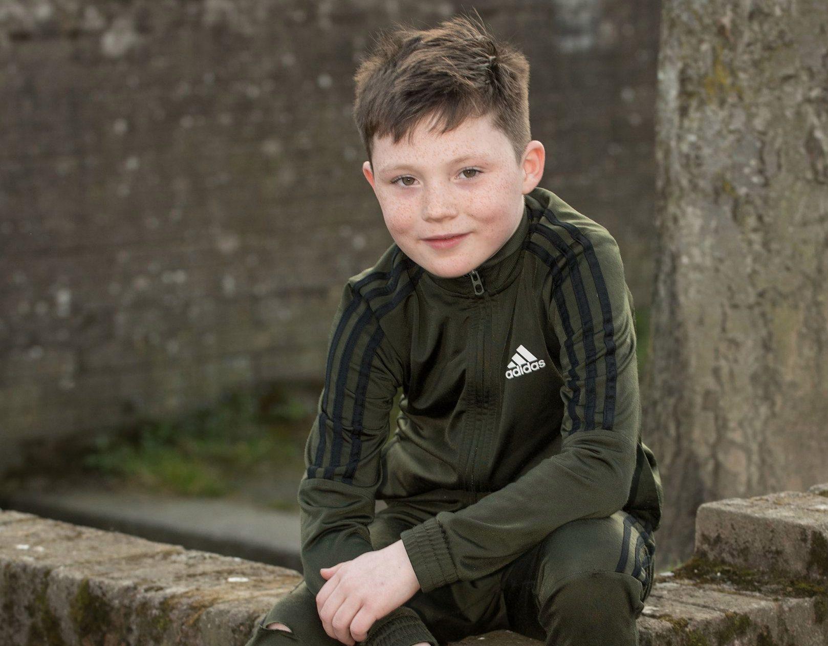Nine years old Tiernan McCready from Derry. Picture Martin McKeown. Inpresspics.com. 10.04.19