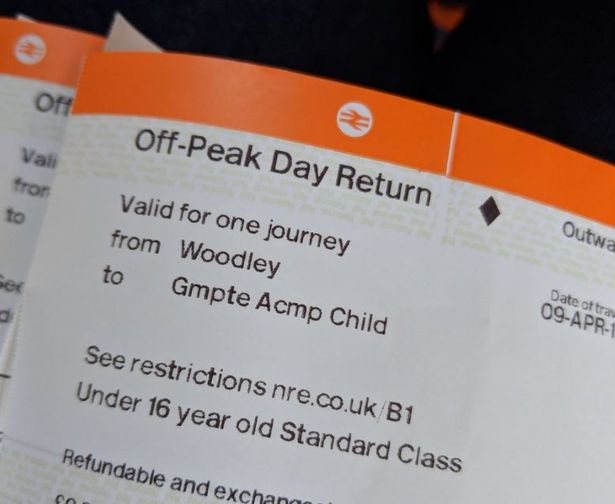"""Having children can be expensive, so when parents save some money we probably get a bit more excited than most. But it seems Sarah Burns' discovery of cheaper rail fares for kids is news to most families. And she only came across it by chance herself. With a broken machine at Woodley station in Stockport, she was forced to pay on the train itself. And it was once on board that the conductor informed her she could get a return child's ticket for just 80 pence - a big saving on the ?2.85 she would have paid had the machine been working. After tweeting Northern and Transport for Greater Manchester (TfGM) to ask them for more details about the 'accompanied child' ticket, she was told these can only be bought at ticket offices, or on trains themselves. Sarah, who lives with her family in Woodley, told the M.E.N's Manchester Family : """"I'd usually buy from the ticket machine, but the machine was broken yesterday so I had to buy on board. """"I've got the train loads with the kids and never been told about the accompanied child fare until yesterday."""" IMAGE WARNING Picture taken from Facebook. use at own risk"""