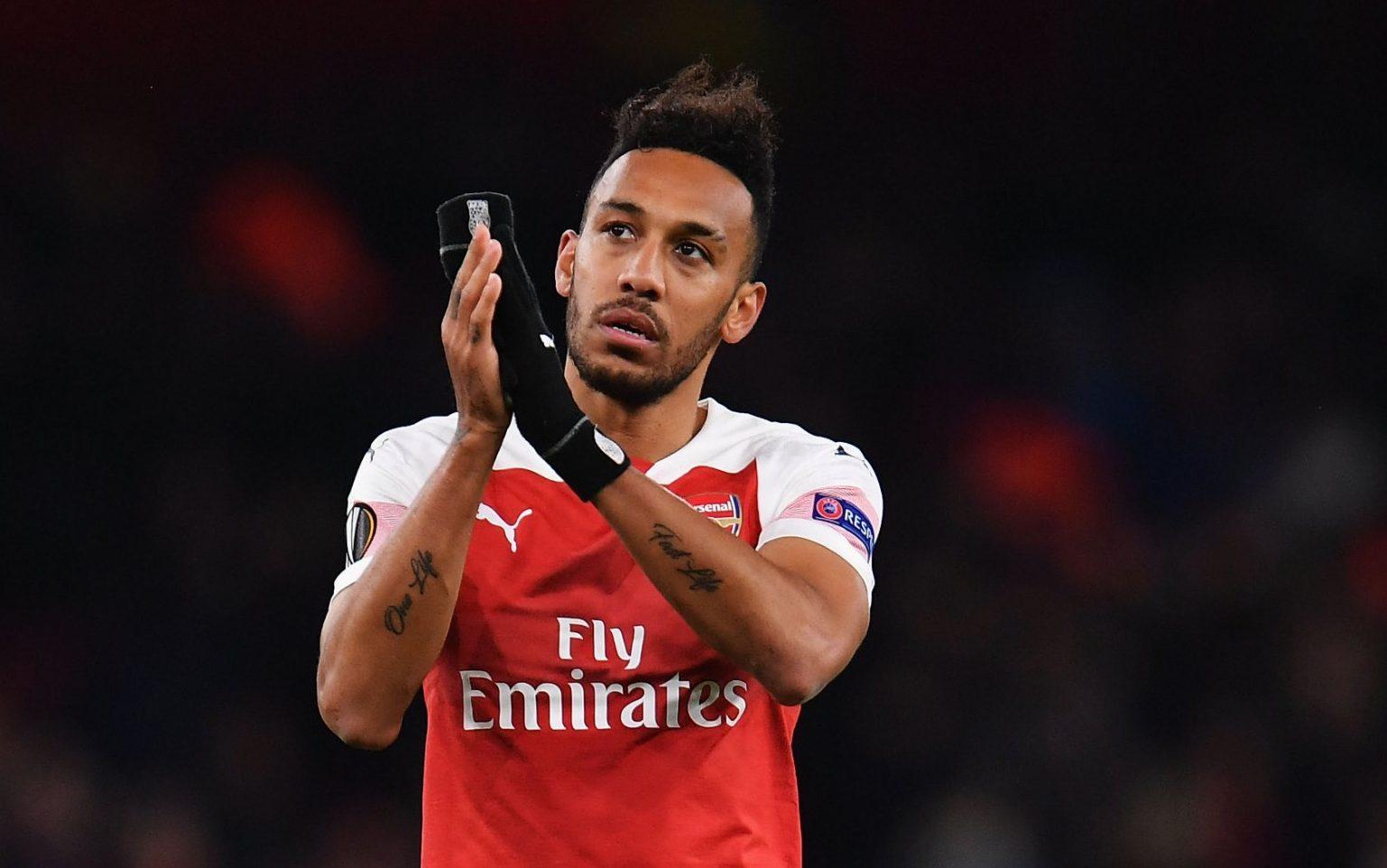 Arsenal striker Pierre-Emerick...