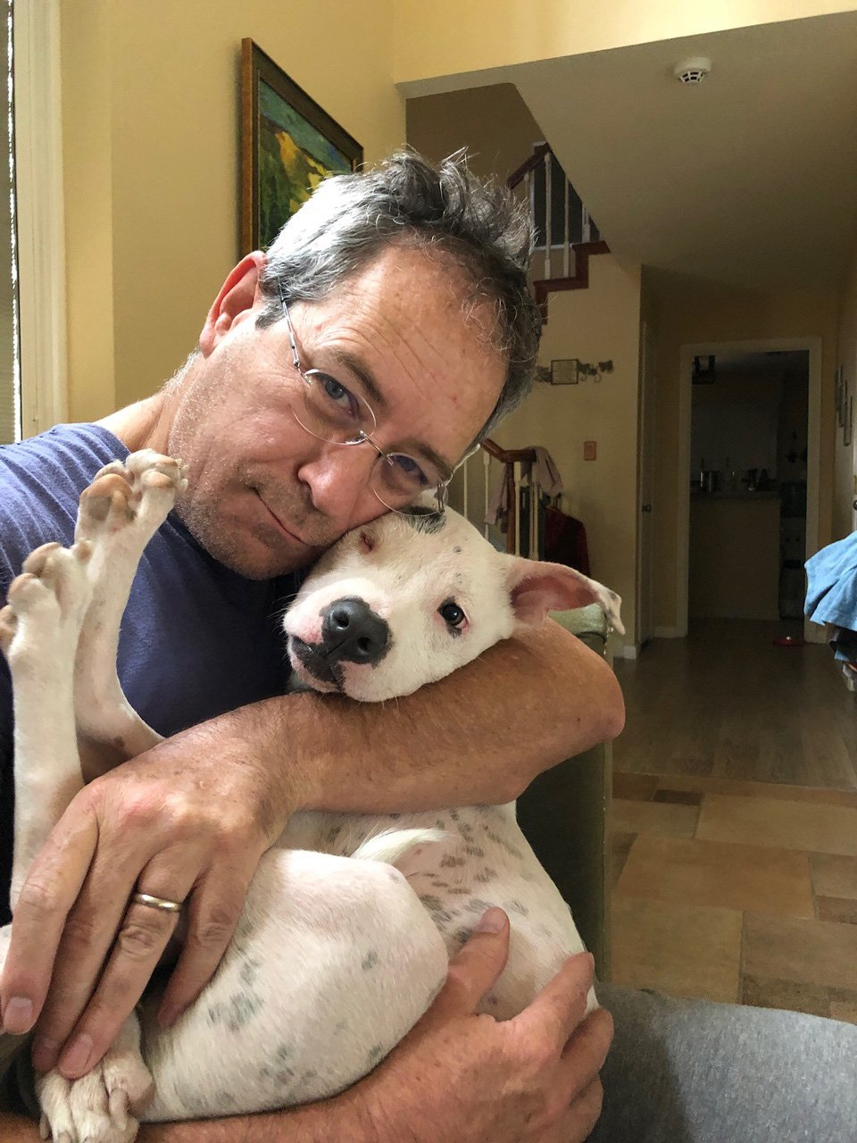 Owners Francisco (pictured) and Kilyn took the puppy in and nursed her to health (Picture: @khbubbles/Hook News)