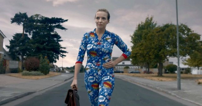 Jodie Comer in Killing Eve Second Series Outfit 1 taken from Season 2 Trailer