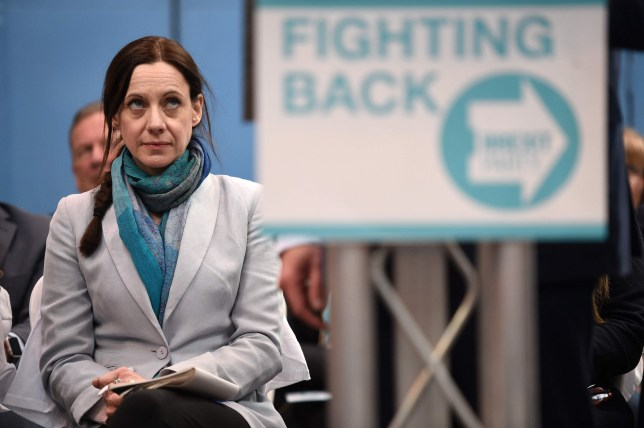 British journalist Annunziata Rees-Mogg looks on at the launch of The Brexit Party's European Parliament election campaign in Coventry, central England on April 12, 2019. - UK nationalist Nigel Farage launched his Brexit Party's campaign for the European Parliament elections -- a vote Britain was never meant to take part in that is being seen as a referendum on its stalled drive out of the EU. (Photo by Oli SCARFF / AFP)OLI SCARFF/AFP/Getty Images