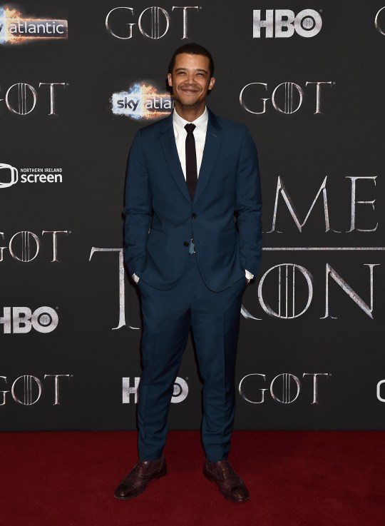 """BELFAST, NORTHERN IRELAND - APRIL 12: Jacob Anderson attends the """"Game of Thrones"""" Season 8 screening at the Waterfront Hall on April 12, 2019 in Belfast, Northern Ireland. (Photo by Charles McQuillan/Getty Images)"""