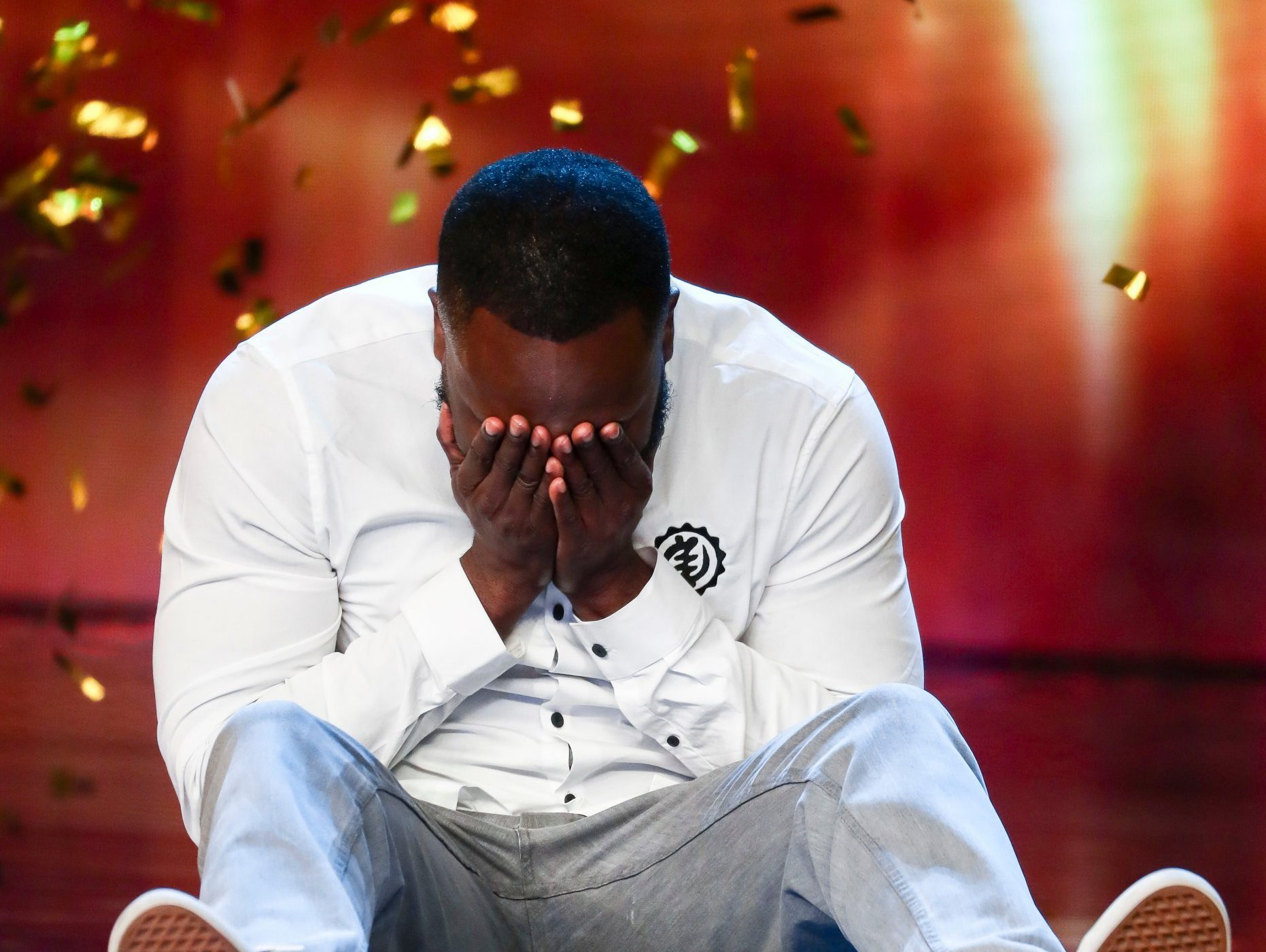Simon Cowell presses Britain's Got Talent golden buzzer for comedian Kojo Anim