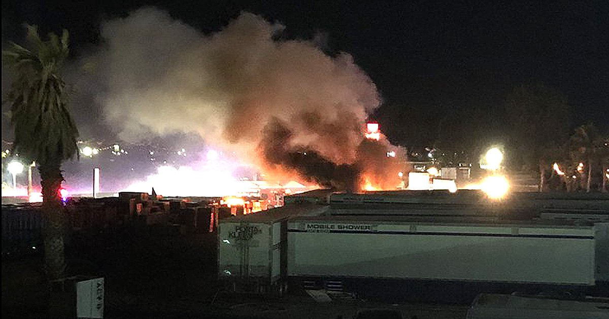 Fires rips through Coachella campgrounds at 2am as festivalgoers are urged to flee