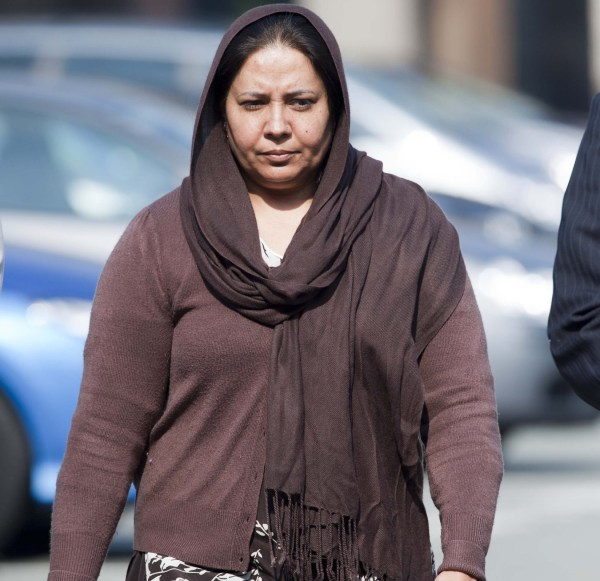 Mandatory Credit: Photo by Andrew Price/REX/Shutterstock (1717867b) Farzana Ahmed Farzana and Iftikhar Ahmed arriving at Chester Court, Chester, Britain - 21 May 2012 Start of the murder trial of Shafilea Ahmed who was found in a river in Cumbria in 2004. Her death was thought to be an honour killing.
