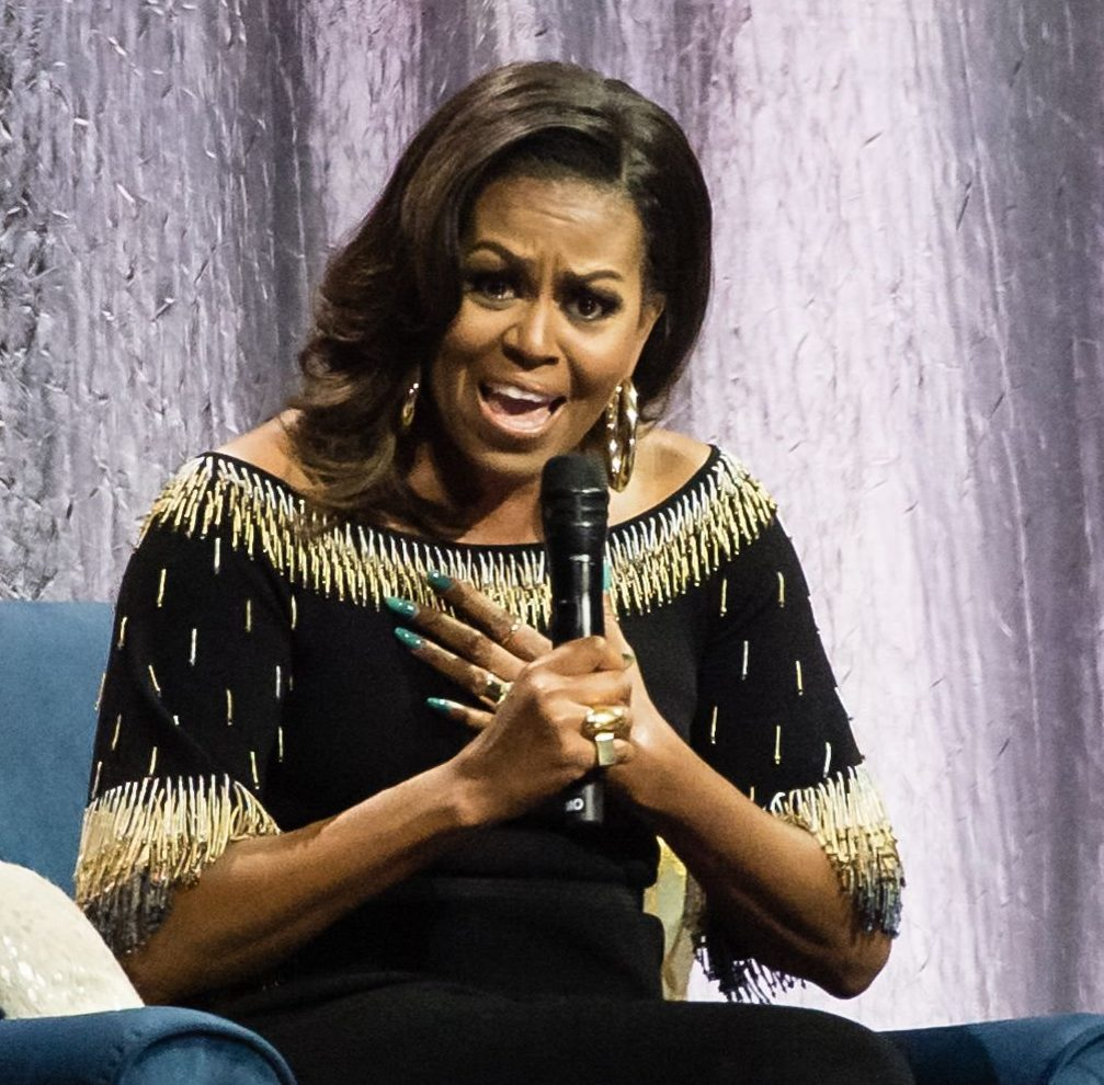 Mandatory Credit: Photo by Richard Isaac/REX (10204145l) Michelle Obama Becoming: An Intimate Conversation With Michelle Obama in concert at the O2 Arena in London, UK - 14 Apr 2019