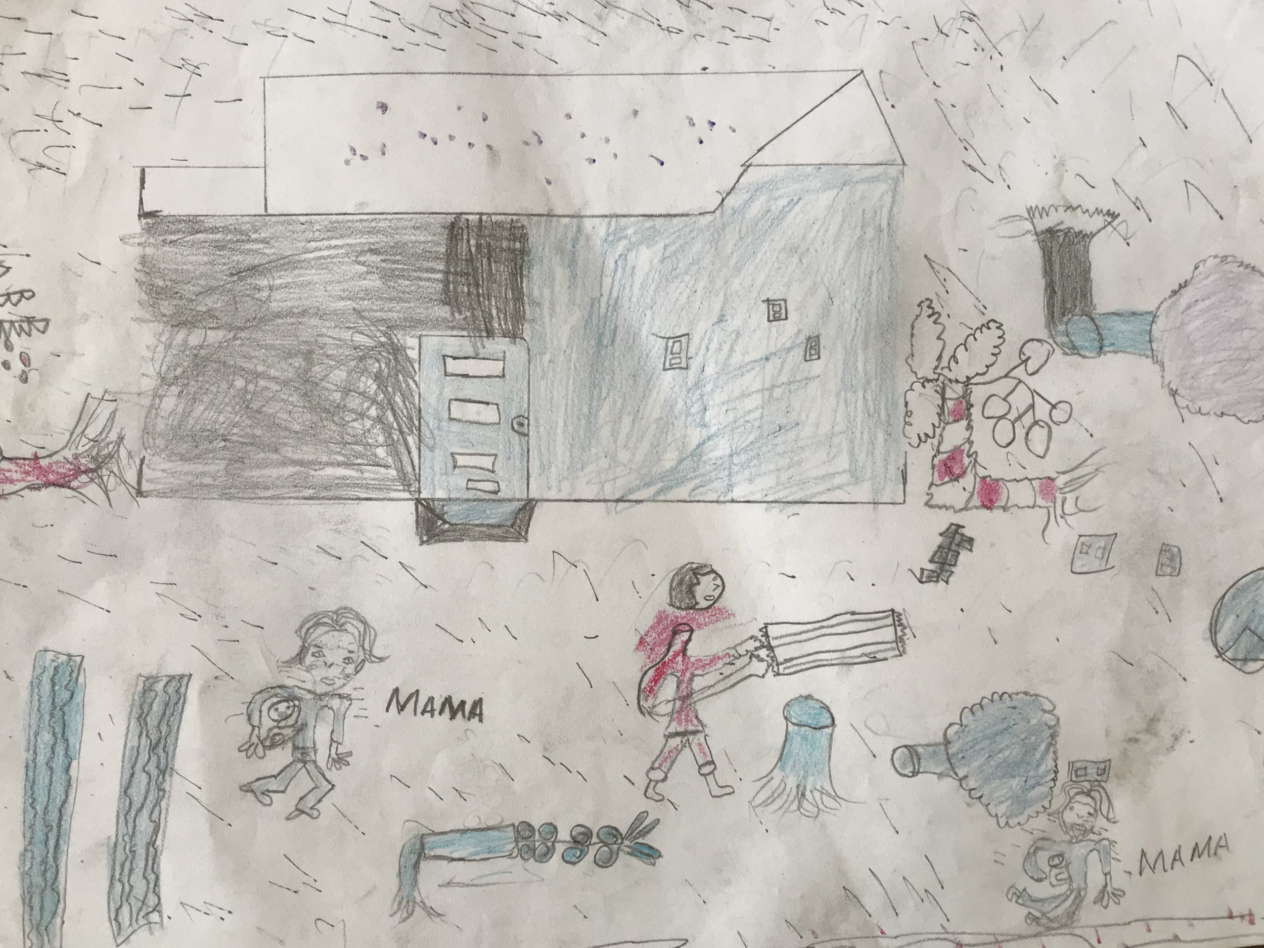 Picture: Save The Children Heartbreaking children's drawings show impact of Cyclone Idai
