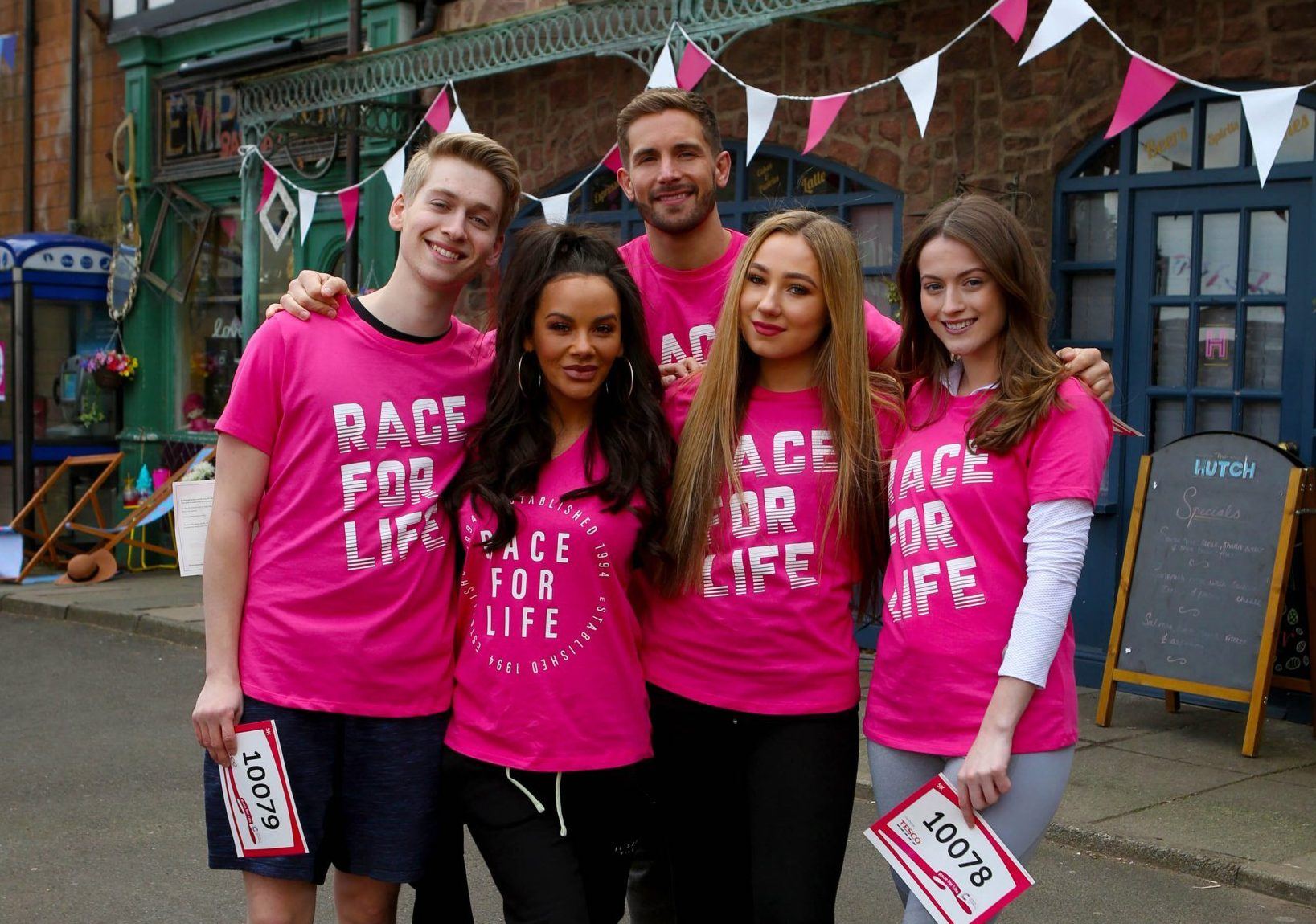 The Hollyoaks cast, including Lauren McQueen, united to take part in Race For Life