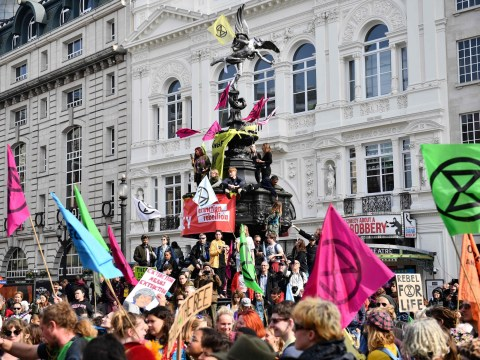 What is Extinction Rebellion and where are the London protests being held?