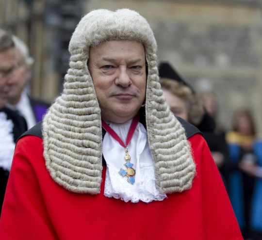 Mandatory Credit: Photo by David Hartley/REX/Shutterstock (1489513j) Judge Keith Cutler QC, recorder at Winchester Crown Court Honorary doctorates awarded by University of Winchester at Winchester Cathedral, Britain - 08 Nov 2011 At the procession to Winchester Cathedral for the graduation ceremony for Winchester University.