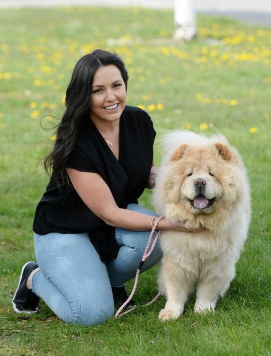 Nicki Dyson with her dog Narla.